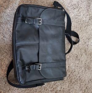 Black Leather Heritage Laptop Bag